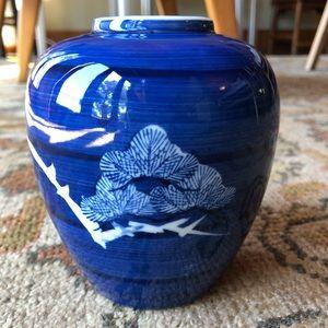 Vintage Takahasi San Francisco Hand Painted Vase